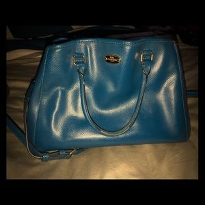 Cobalt blue Coach purse
